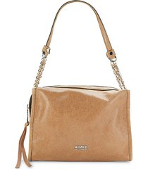 brushed leather shoulder bag