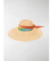 antonella rizza bow-detail fedora hat
