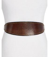 frye & co studded leather waist belt
