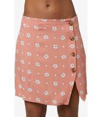 o'neill juniors' libby floral-print skirt