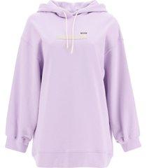 msgm logo sweatshirt with hoodie