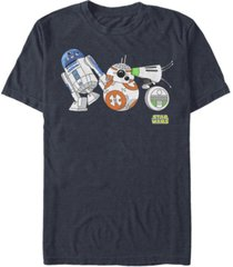 fifth sun men's star wars the rise of skywalker droid party short sleeve t-shirt