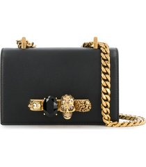 alexander mcqueen knuckle duster crossbody bag - black