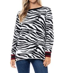 fever leopard jacquard sweater tunic