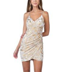 b darlin juniors' velvet foil dress