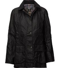 barbour beadnell wax jacket kviltad jacka svart barbour
