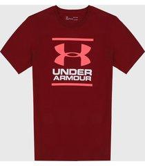 camiseta vinotinto-fucsia-blanco under armour  ua gl foundation