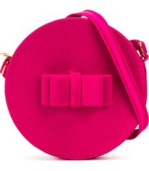 little marc jacobs bolsa redonda com aplicação de laço - rosa