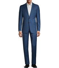 g-line fit pindot virgin-wool suit