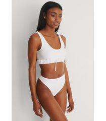 na-kd swimwear recycled bikinitrosa med hög midja - white