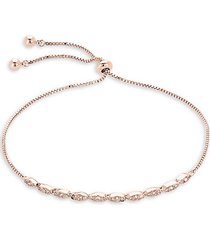14k rose goldplated & crystal bracelet