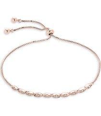 14k rose goldplated & crystal bracelet