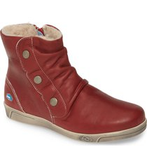 women's cloud ancha wool lined bootie, size 5.5-6us - red