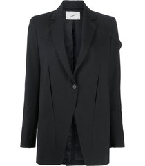 coperni blazer connection com abotoamento simples - preto
