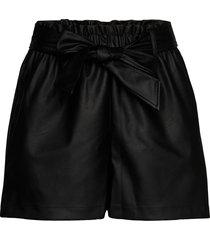 gaby pu shorts shorts flowy shorts/casual shorts svart gina tricot