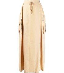 lorena antoniazzi pull-on maxi skirt - neutrals