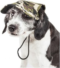 pet life 'torrential downfour' camouflage uv protectant adjustable dog hat cap