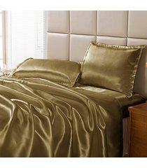 jogo de cama dourados enxovais charmouse mostarda, - marrom - dafiti