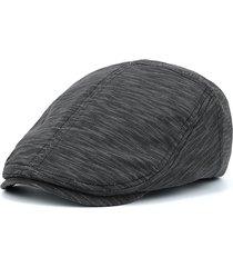 cappellino a righe regolabili in cotone con cappello a berreto casual applique a pelo parasole