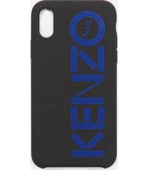 kenzo men's tonal logo iphone x case - blue