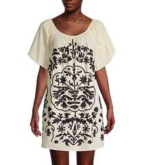fiona embroidered mini dress