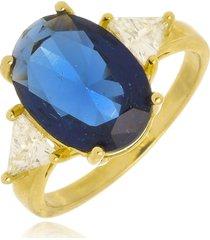 anel vitória safira di capri semi jóias x ouro