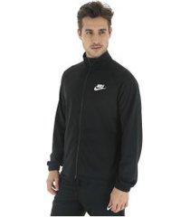 agasalho nike sportswear track suit pk basic - masculino - preto/branco