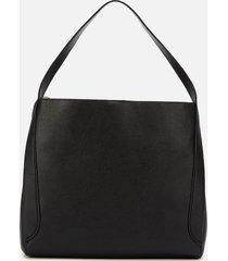 coach women's polished pebble leather hadley hobo bag - black