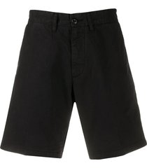 carhartt wip mid-rise chino shorts - black