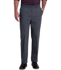 haggar men's premium classic-fit wrinkle-free stretch elastic waistband dress pants