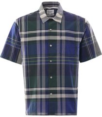 carsten madras check shirt - dark navy n40-0524 7004