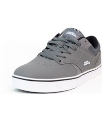 zapatilla skateboarding gris no fear indus2