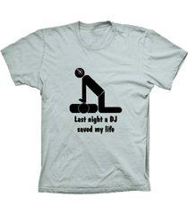 camiseta baby look lu geek dj saved life prata - prata - feminino - dafiti