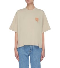 embroidered anagram patch t-shirt