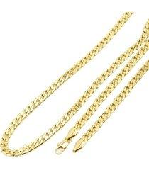 corrente tudo joias folheada a ouro 18k grumet tradicional