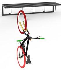 wieszak na rowery 100cm czarny metal