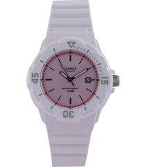 reloj blanco-rosa casio
