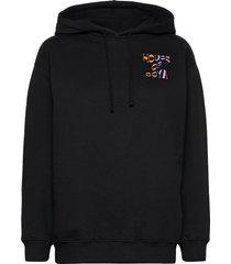 adrisa, 1093 tracksuit goya hoodie trui zwart stine goya