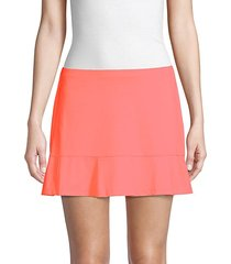 pleated hem tennis skirt