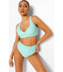 essentials high waist bikini brief, bright green