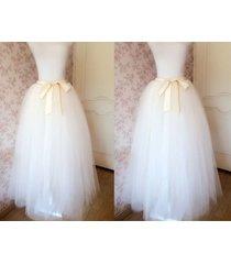 ivory white full length tulle skirt ivory long tulle wedding skirt bridal skirts
