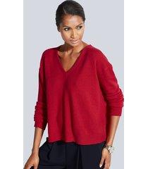 oversized trui van kasjmier alba moda rood