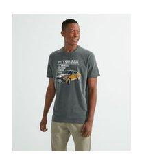 camiseta comfort com estampa carro | marfinno | cinza | eg i