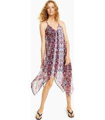 bar iii printed handkerchief-hem dress, created for macy's
