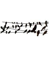 birds on a wire wieszak ścienny z metalu