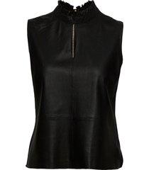 top vests knitted vests zwart depeche