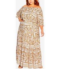 plus size nisha maxi dress