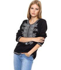 blusa negra spiga 31 bordada