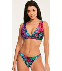 bahama palm high apex plunge bikini top