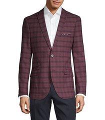 plaid peak lapel jacket